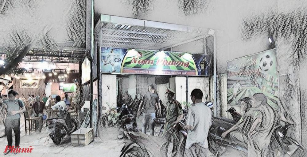 quán cà phê Nam Phương (125 đường Phan Đình Phùng, phường Phú Nhuận, TP.Huế) có nhiều đối tượng thường xuyên tụ tập để đánh bạc