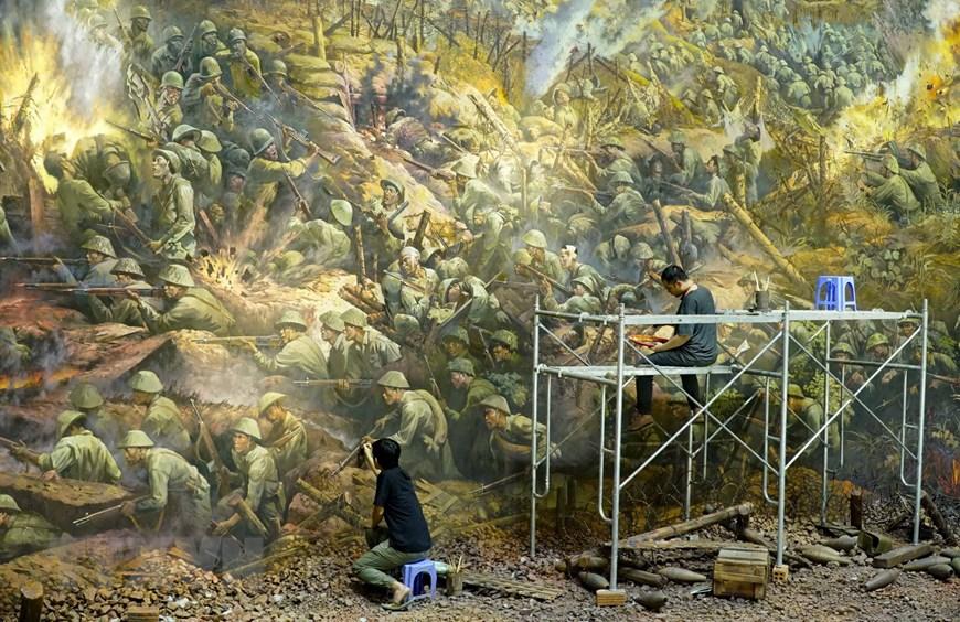 80 hoạ sĩ cùng thực hiện bức tranh này. Có khoảng 4.500 nhân vật được vẽ trong bức tranh này.