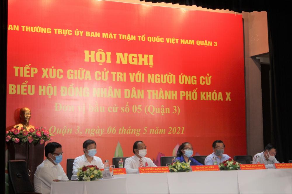 5 ứng cử viên đại biểu HĐND TPHCM ở đơn vị bầu cử số 5 (quận 3).