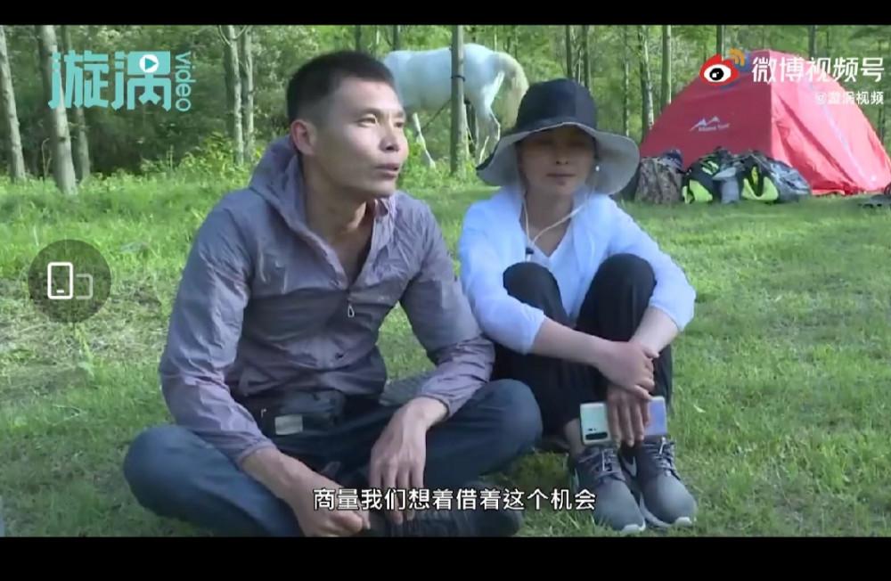 Vợ chồng Trịnh Cảnh Thái trả lời phỏng vấn. Ảnh cắt từ clip