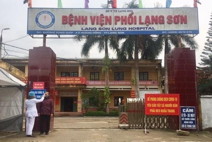 Bệnh viện Phổi Lạng Sơn - nơi ghi nhận 1 bệnh nhân dương tính với virus SARS-CoV-2