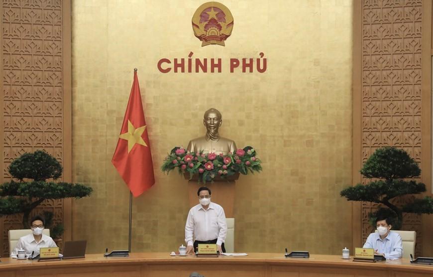 Thủ tướng Phạm Minh Chính chủ trì cuộc họp của Ban Chỉ đạo quốc gia phòng, chống COVID-19 chiều 7/5.
