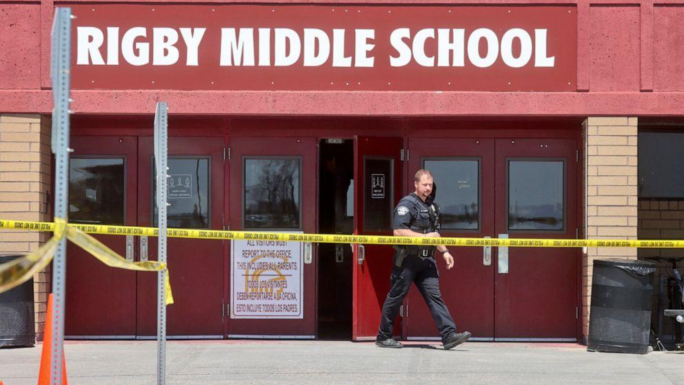Trường trung học cơ sở Rigby nơi đã diễn ra vụ nổ súng ngày 6/5 - Ảnh: AP