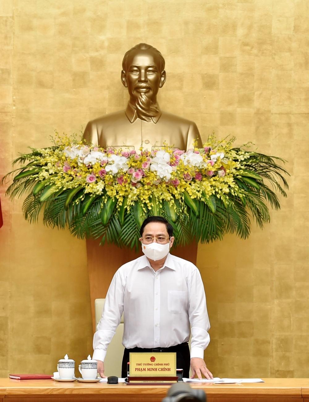 Thủ tướng Phạm Minh Chính nhấn mạnh không chủ quan, lơ là nhưng cũng không sợ hãi, mất bình tình trong công cuộc phòng, chống dịch COVID-19.