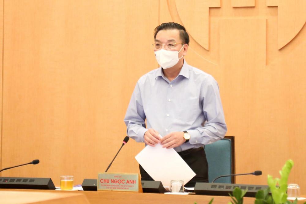 Chủ tịch Chu Ngọc Anh báo cáo tại cuộc họp trực tuyến chiều 7/5.