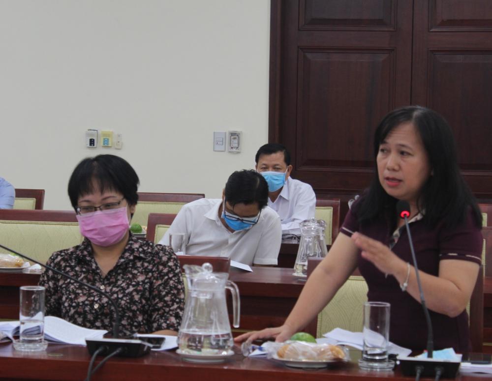 Giám đốc NXB Tổng hợp TPHCM Đinh Thị Thanh Thủy chú trọng đến vai trò văn hóa phi vật thể khi xây dựng không gian văn hóa Hồ Chí Minh.