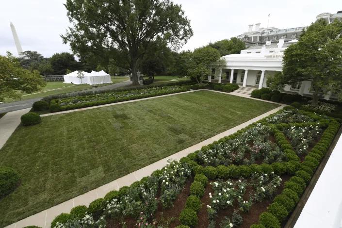 Quang cảnh Vườn Hồng đã được phục hồi (tháng 8/2020) - Ảnh: AP