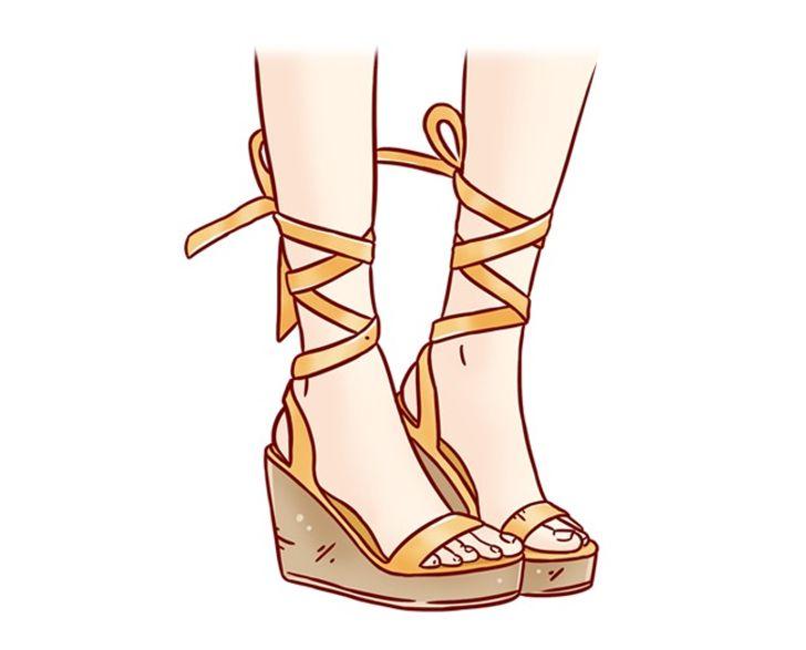 9. Sai khớp ở vùng mu bàn chân: Nếu đôi giày không vừa với chân, đường cong của bàn chân và đường cong của đế giày sẽ không khớp với nhau. Do đó, bàn chân của bạn không nằm trên toàn bộ bề mặt giày mà chỉ nằm trên hai điểm ngoài cùng của nó: điểm dưới gót chân và điểm dưới ụ ngón chân. Mang những đôi giày như vậy khiến bạn gặp vấn đề về lưu thông máu, về lâu dài sẽ làm bắp chân to ra, đổ mồ hôi nhiều, đau nhức chân.