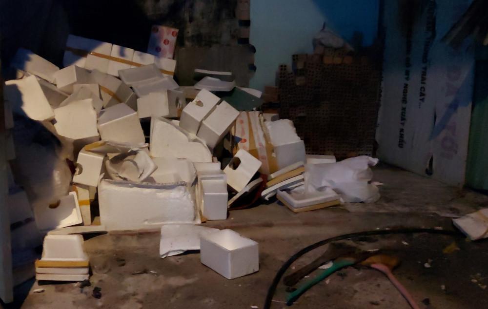 Một vụ cháy nhỏ tại Huyện Hóc Môn cũng khiến 1 người bị bỏng nghẹ