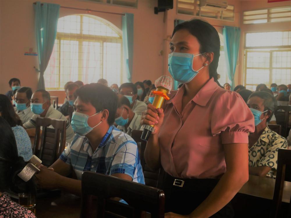 Cử tri Đào Thị Trang mong các ứng cử viên quan tâm đến sân chơi cho người trẻ