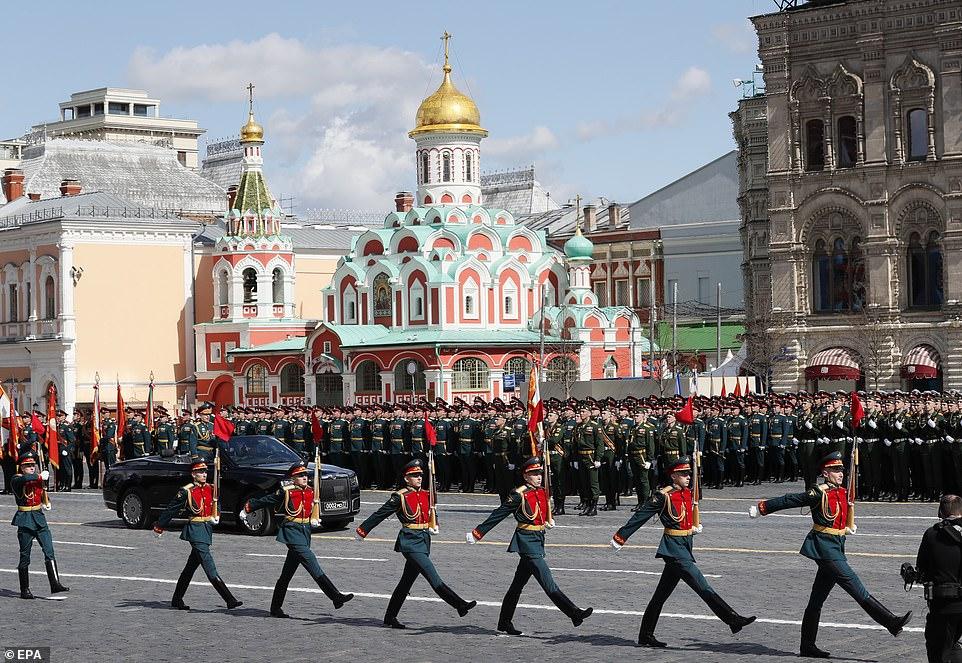 Tổng diễn tập duyệt binh ngày chiến thắng trên Quảng trường Đỏ