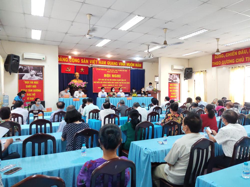 Đoàn ứng cử viên đơn vị bầu cử số 1 tiếp xúc cử tri phường An Phú