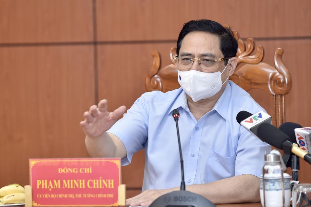Thủ tướng Chính phủ phát biểu chỉ đạo cuộc họp khẩn tại An Giang