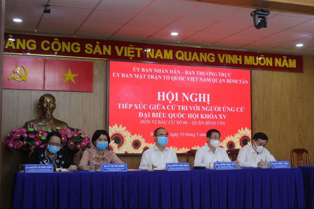 5 ứng cử viên ĐBQH tại đơn vị bầu cử số 6 - quận Bình Tân.