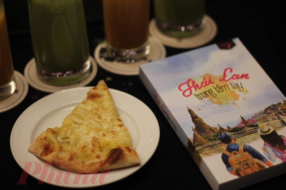 Góc cắt của pizza sầu riêng cũng không được lòng nhiều thực khách - ảnh: An Huỳnh