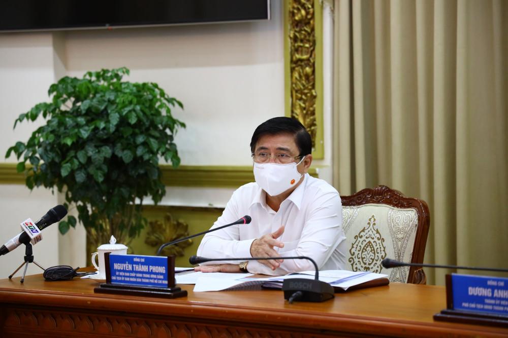 Chủ tịch UBND TPHCM Nguyễn Thành Phong sáng 10/5/2021