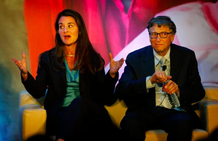 Bill và Melinda Gates ở New Delhi, Ấn Độ, vào tháng 9 năm 2019. (Manish Swarup / AP)