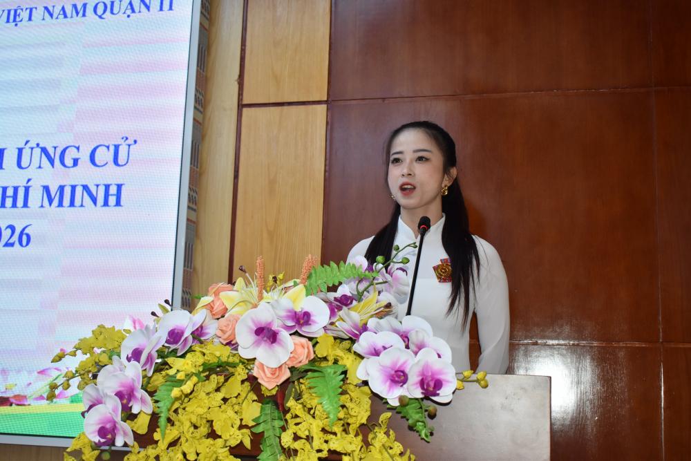 Ứng cử viên Châu Tuyết Vân đại diện cho giới nữ và vận động viên mong muốn góp tiếng nói cho các chính sách nâng cao sức khỏe người dân.