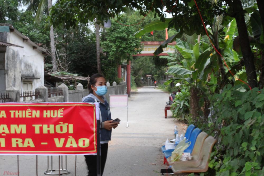 Người dân sinh sống tại Khu cách ly thôn Phước Lộc xã Lộc Tiến