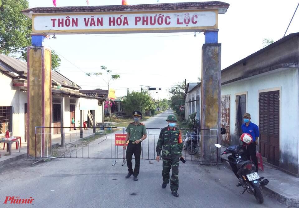 Giãn cách xã hội được thực hiện được thực hiện tại thôn Phước Lộc xã Lộc Tiến