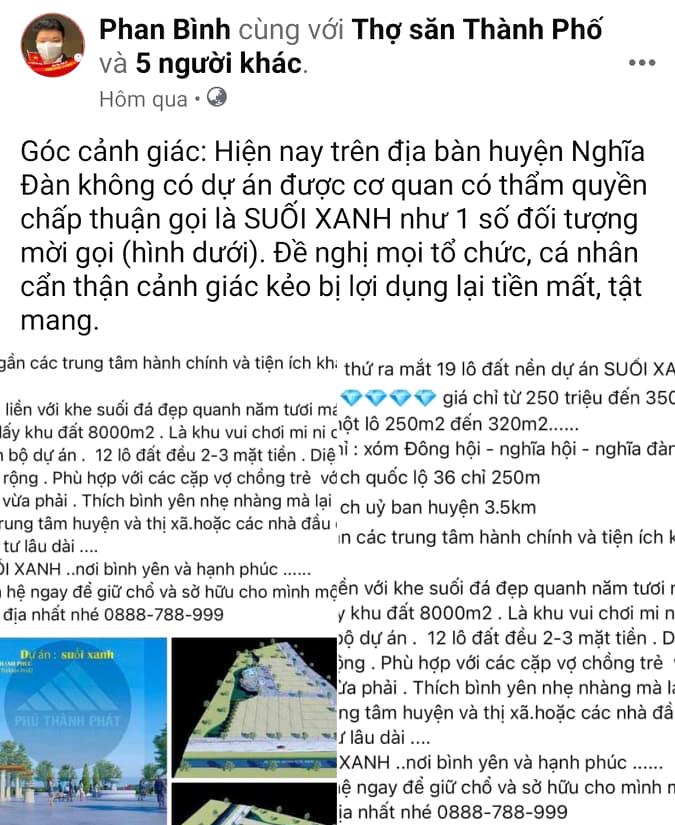 Lãnh đạo huyện Nghĩa Đàn lên Facebook cảnh báo để tránh người dân bị lừa