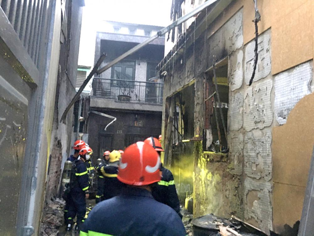 Hiện trường vụ cháy xảy ra vào ngày 7/5 vừa qua tại Q.11, TP.HCM, làm tám người thiệt mạng