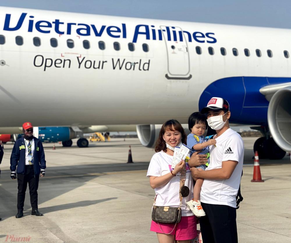 Vietravel Airlines mới chính thức có chuyến bay thương mại đầu tiên vào ngày 25/1/2021 Ảnh: Quốc Thái