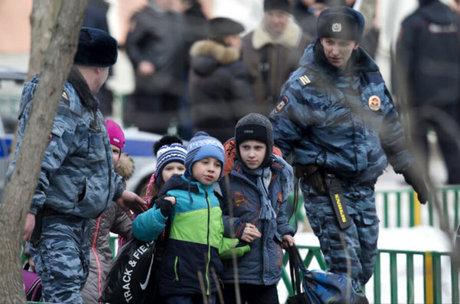 Học sinh đã được sơ tán khẩn cấp khỏi khu vực trường học - Ảnh: naharnet