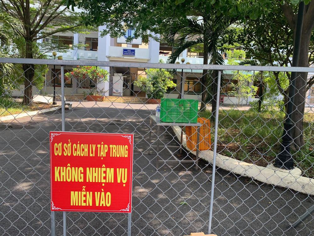 Ảnh: Khu cách ly tập trung cơ sở 2 của Trung tâm y tế huyện Vĩnh Cửu (xã Thạnh Phú, huyện Vĩnh Cửu, tỉnh Đồng Nai)