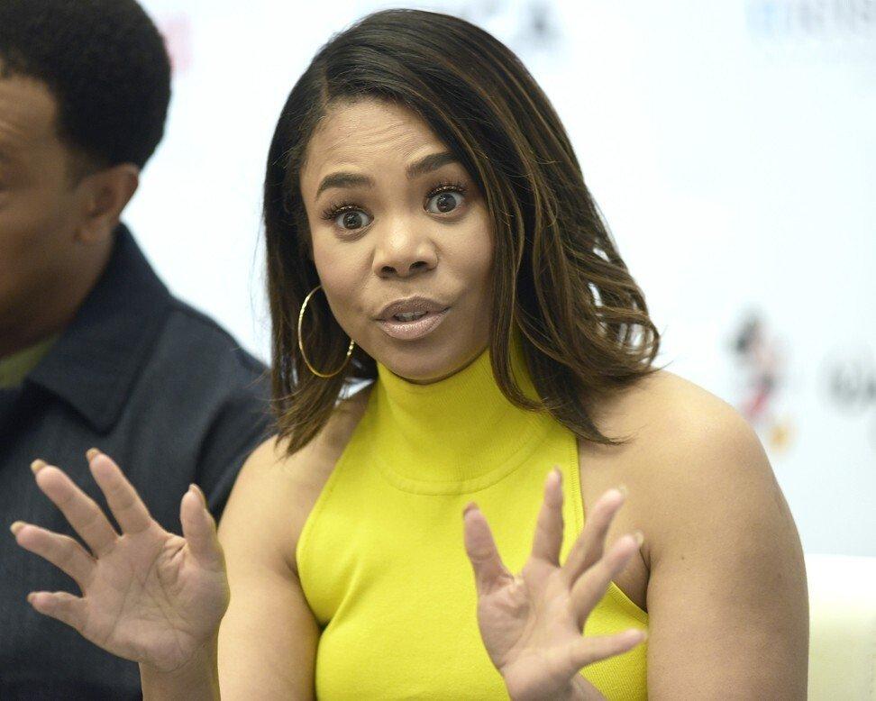 Nữ diễn viên Regina Hall thảo luận về bộ phim của cô ấy trong hội nghị.