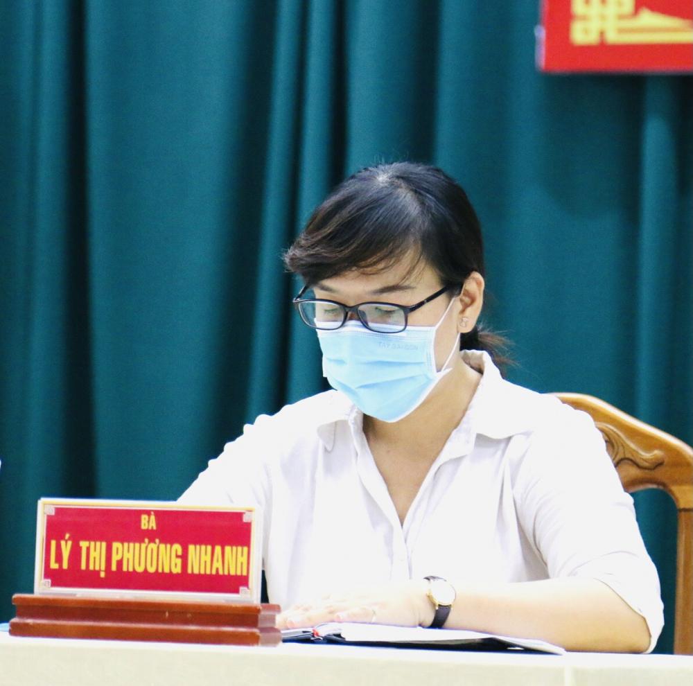 Bà Lý Thị Phương Nhanh mong muốn phát triển quận 8 với các chính sách phù hợp.