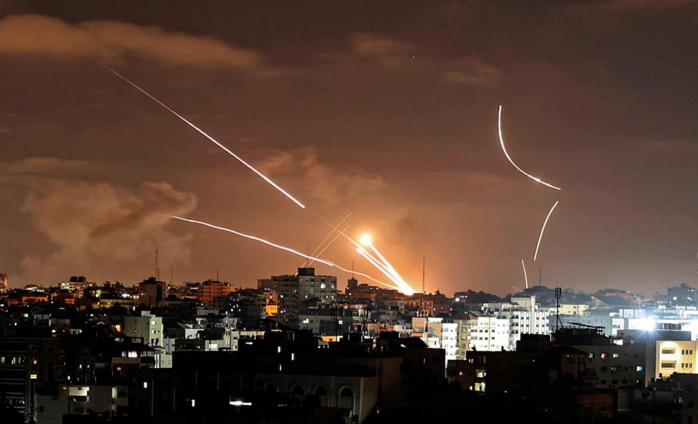 Tên lửa được phóng từ thành phố Gaza về phía Israel