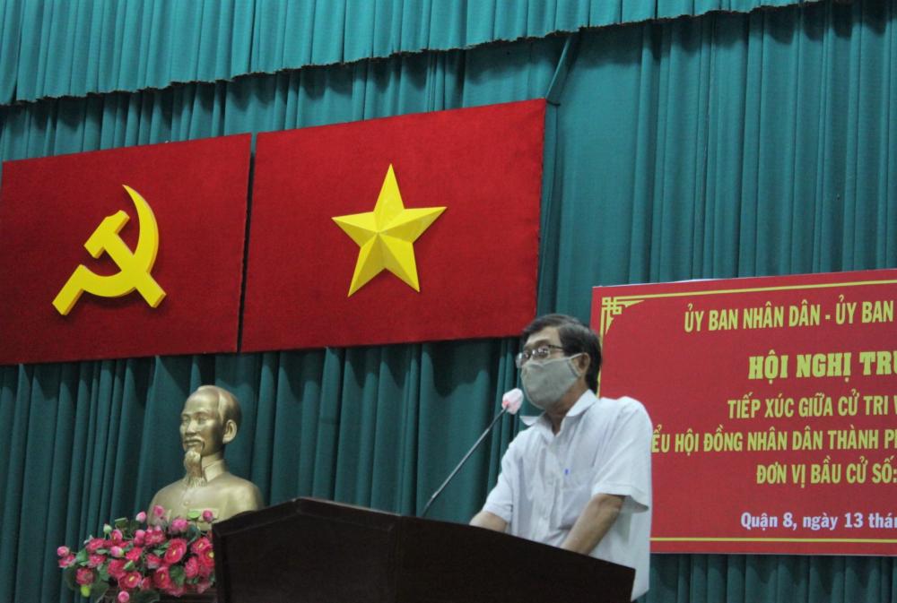 Cử tri Nguyễn Minh Đức mong mỏi đẩy nhanh tiến độ 4 dự án lâu năm trên địa bàn phường 14.