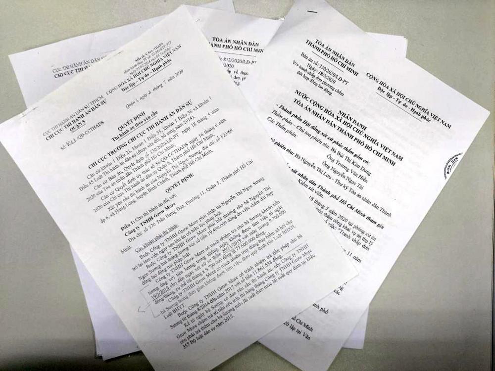 Quyết định thi hành án đối với trường hợp của bà Nguyễn Thị Thêm và bà Nguyễn Thị Ngọc Sương đã ban hành  từ tháng 7/2020 nhưng đến nay vẫn chưa được thi hành đầy đủ