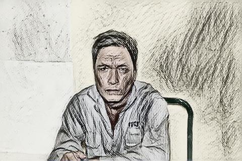 Đối tượng Nguyễn Minh Hùng tại cơ quan điều tra - Ảnh: Cơ quan công an cung cấp