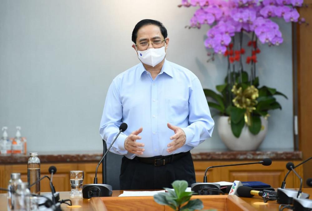 Thủ tướng Phạm Minh Chính phát biểu chỉ đạo về phòng, chống dịch tại Bệnh viện Đại học Y dược TPHCM