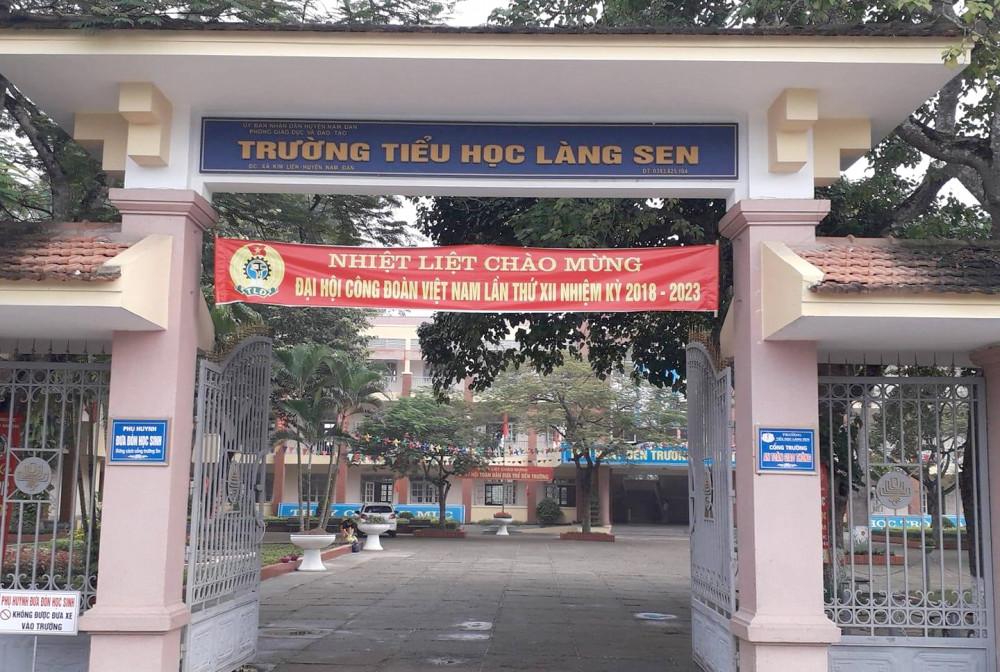 Trường tiểu học Làng Sen - nơi xảy ra sự việc