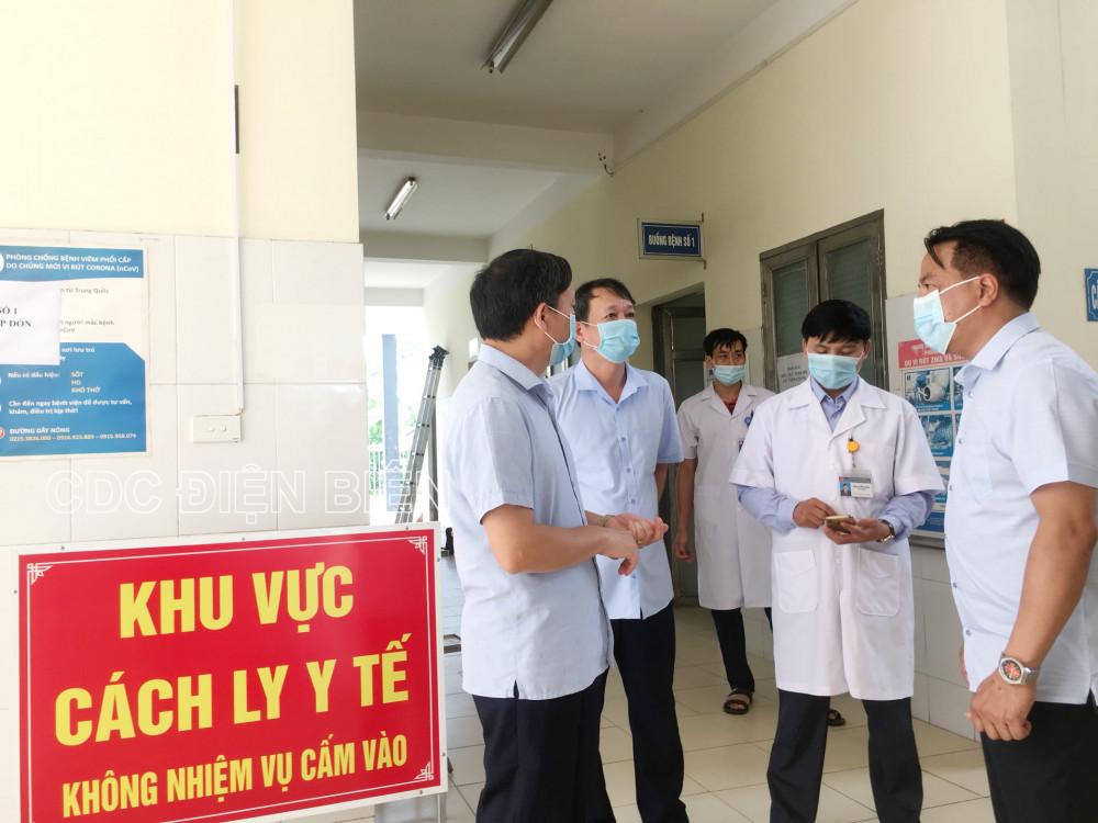 Lãnh đạo Sở Y tế kiểm tra công tác phòng, chống dịch Covid-19 tại Trung tâm Y tế TP. Điện Biên Phủ.