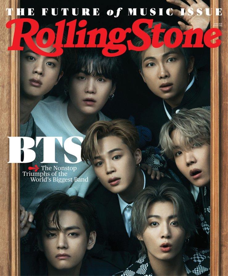 BTS trên trang bìa tạp chí  Rolling Stone.