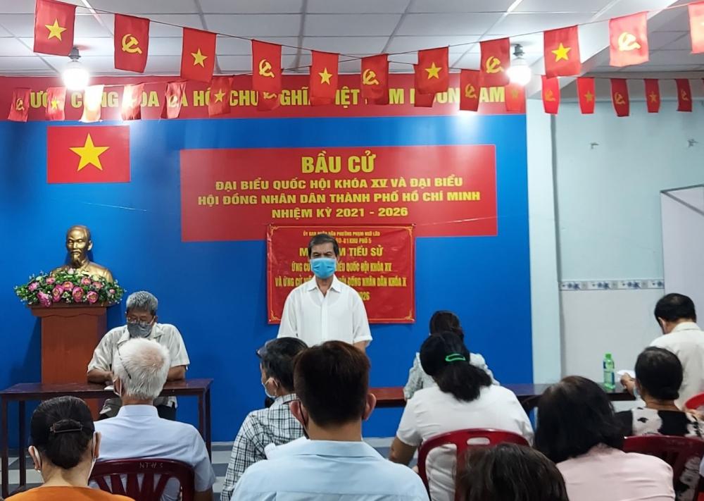 Cử tri Đinh Xuân Dự đánh giá cao trình độ, tài năng của các ứng cử viên trên địa bàn quận 1.
