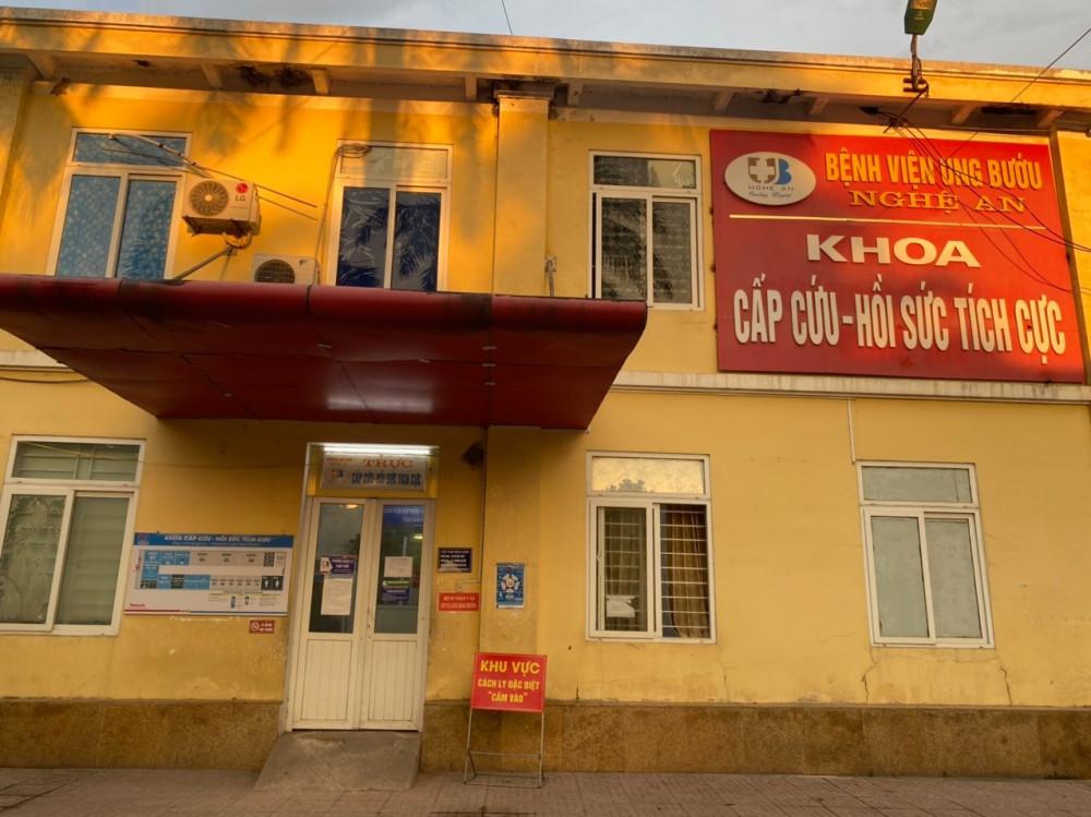 Khoa Cấp cứu - Hồi sức tích cực Bệnh viện Ung Bướu Nghệ An được phong tỏa