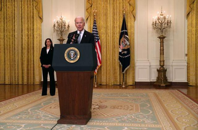 Tổng thống Joe Biden phát biểu tại Nhà Trắng ở Washington, ngày 17/5.