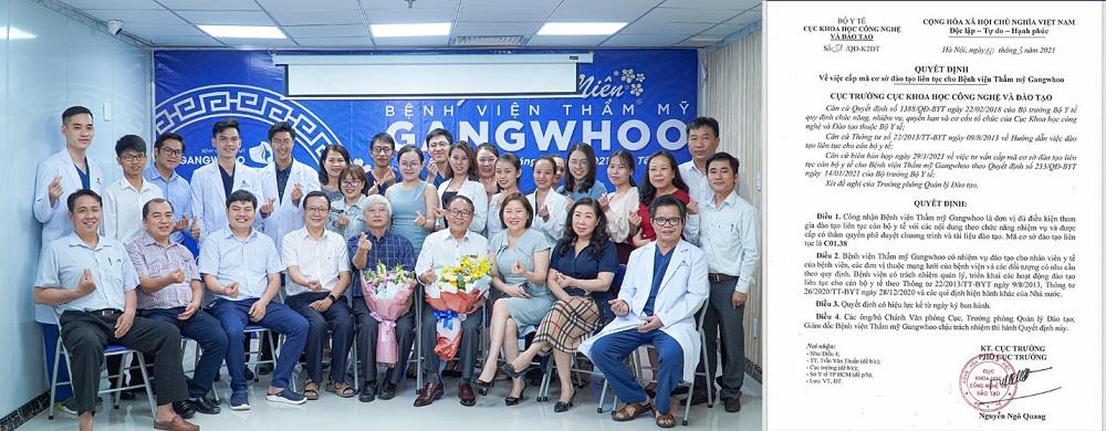 Việc đào tạo cán bộ y tế theo Thông tư số 22/2013/TT-BYT được Bệnh viện Thẩm mỹ Gangwhoo đặt lên hàng đầu