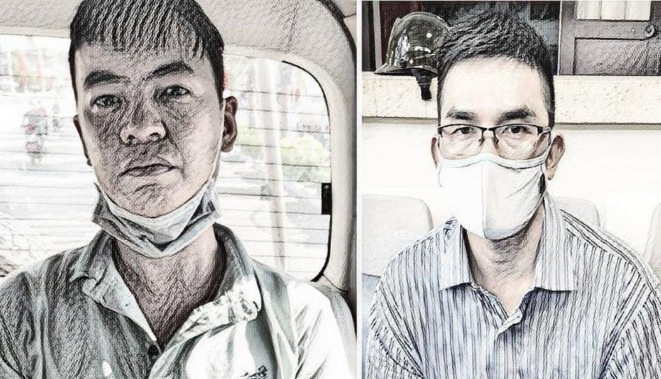 Đăng (trái) và Thuận (Ảnh công an cung cấp)