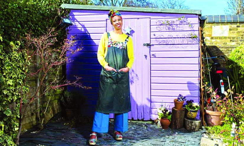 """""""Hang động"""" của Angela Benjamin trước khi được phủ màu sơn trắng  Ảnh:  Karen Robinson/ The Observer"""