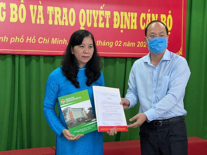 Bà Huỳnh Thị Kim Xuyến - Phó Chủ tịch Hội Nông dân TP