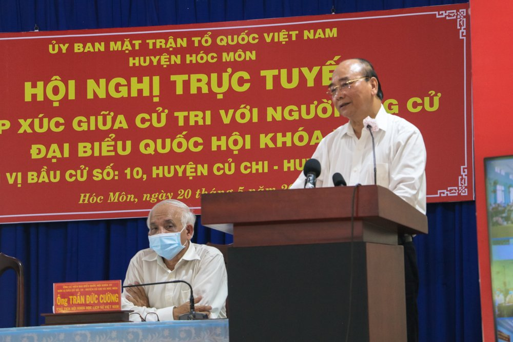 Chủ tịch nước Nguyễn Xuân Phúc tại cuộc tiếp xúc cử tri chiều 20/5