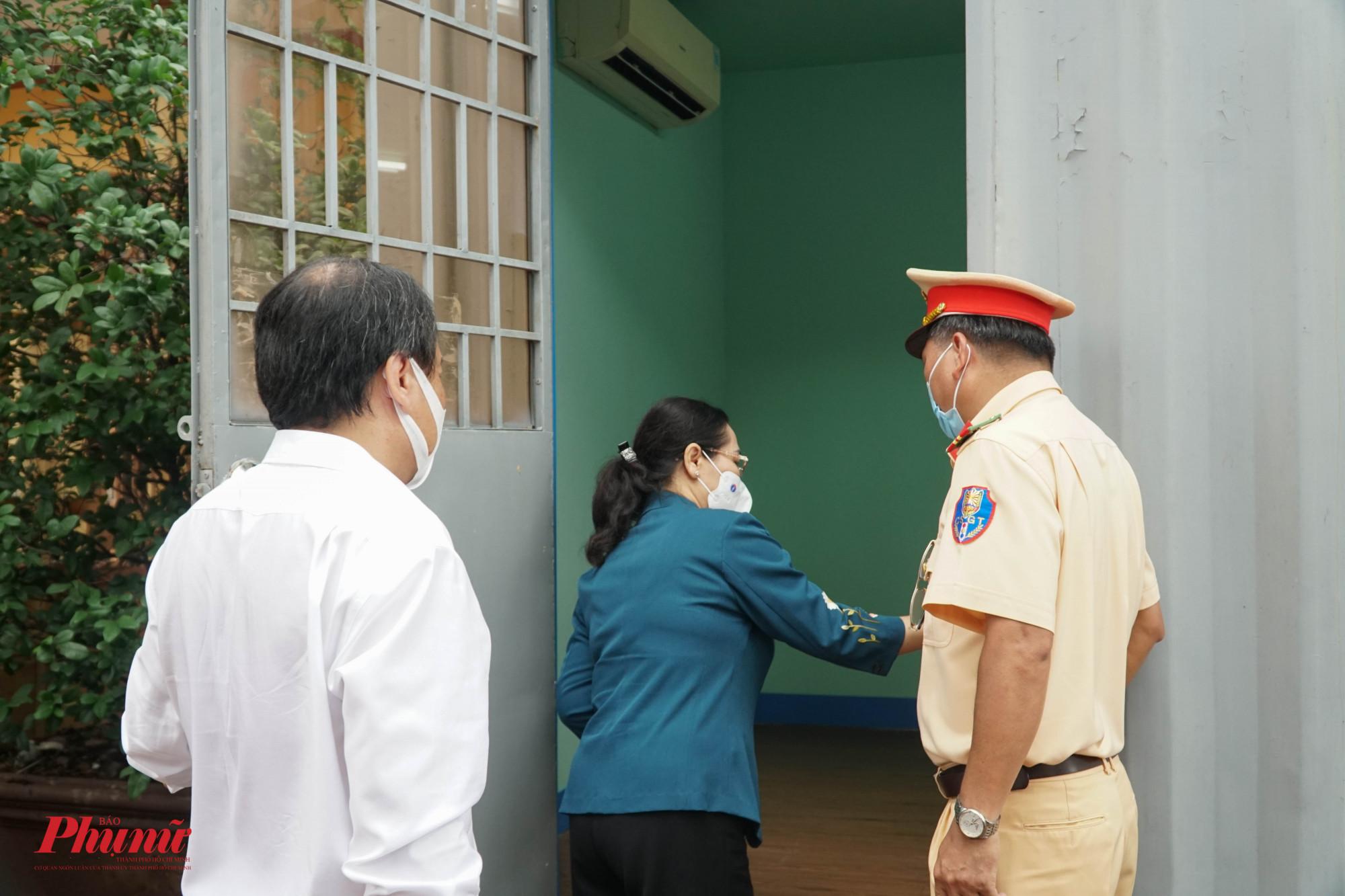 Chủ tịch HĐND Thành phốNguyễn Thị Lệ Nơi nghỉ ngơi của lực lượng làm nhiệm vụ được