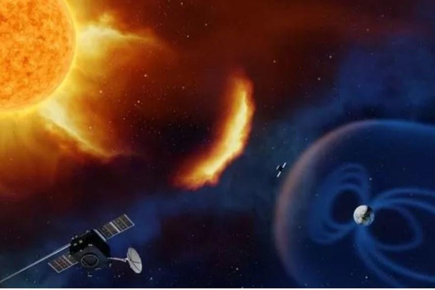 Bão mặt trời di chuyển với tốc độ 1,8 triệu km mỗi giờ tấn công vào Trái đất - Ảnh: ESA