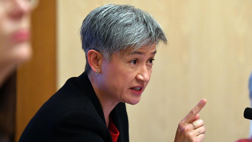 """""""Đó là một phần của sự che đậy"""", thượng nghị sĩ Penny Wong nói về báo cáo liên quan đến cáo buộc hiếp dâm Brittany Higgins - Ảnh: Video"""